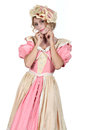 Woman in flouncy period dress Royalty Free Stock Photography