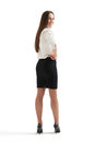Woman in formal wear turning around Royalty Free Stock Photo