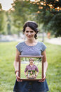 Woman frame Royalty Free Stock Photo