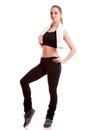 Woman Full Body In Sports Wear...