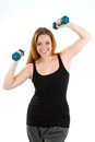 Woman Fun Workout Royalty Free Stock Photography