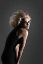 Woman with Futuristic Hairdo Royalty Free Stock Photo