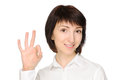 Woman gesturing okay Royalty Free Stock Photography