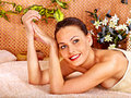 Woman getting  body massage . Stock Image