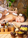 Woman getting massage in spa. Stock Photography