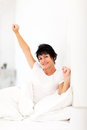 Woman getting up Royalty Free Stock Image