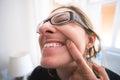 Woman gingivitis show gums teeth Royalty Free Stock Photo