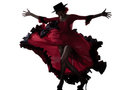 Woman gipsy flamenco dancing dancer Royalty Free Stock Image