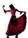 Woman gipsy flamenco dancing dancer Royalty Free Stock Photography