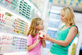 Woman and girl making shopping Stock Image