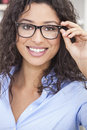 Woman Girl Wearing Geek Glasses Royalty Free Stock Photo