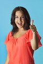 Woman Giving a Thumbs up Royalty Free Stock Photography