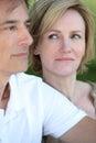 Woman glancing at her husband Royalty Free Stock Photo