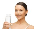 Woman with glass of water picture beautiful Stock Photos