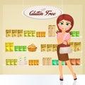 Woman in gluten free