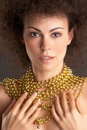 Woman and GOLD #3 Royalty Free Stock Images