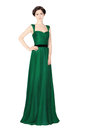 Woman in green evening dress Royalty Free Stock Photo