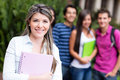 Woman with group of students Stock Photos