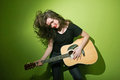 Woman and guitar Royalty Free Stock Photo