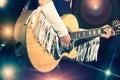 Woman guitarist Royalty Free Stock Photo