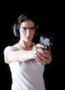 Woman gun Royalty Free Stock Photo