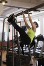 stock image of  Woman at the gym doing exercises