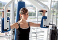 Woman at the gym exercising Royalty Free Stock Images