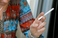 Woman hand with cigarette Royalty Free Stock Photo