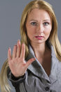 Woman with hand stop gesture Royalty Free Stock Photo