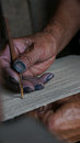 Woman Hand Was Weaving Craft W...