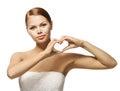 Woman Hands In Heart Shape. Gi...