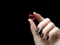 Woman Hands Holding A Small He...