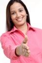 Woman handshake Royalty Free Stock Photo