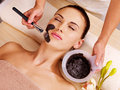 Woman having beauty treatments in the spa salon adult Stock Image