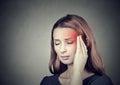 Woman having headache, migraine Royalty Free Stock Photo