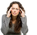 Woman having headache sick Royalty Free Stock Photo