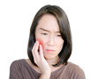 Woman having a toothache Royalty Free Stock Photo