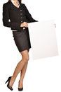Woman headless holding a blank white board Stock Photography