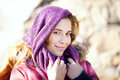 Woman with a headscarf beautiful Stock Photography