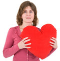 Woman and heart Stock Image