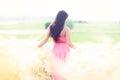 Woman in heaven fields of gold