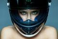 Woman in helmet Royalty Free Stock Photo