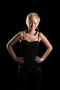 Woman with her arms akimbo Royalty Free Stock Photo
