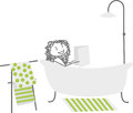 A woman in her bath