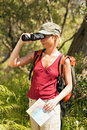 Woman hiking Stock Image