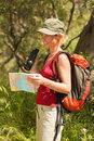 Woman hiking Stock Photography