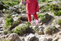 Woman Hiking on Croagh Patrick Mountain in Murrisk Ireland Royalty Free Stock Photo