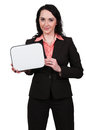 Woman holding a blank sign beautiful young up Royalty Free Stock Photo
