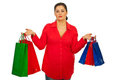 Woman holding colorful shopping bags Stock Image
