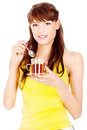 Woman holding cup of tea Royalty Free Stock Photography